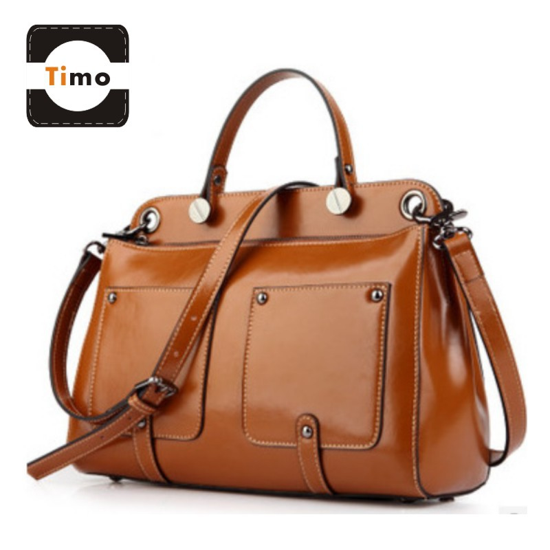 Genuine Leather Women Handbag Casual Bag Office Las Tote Briefcase Business Multi Pocket Work Shoulder Bags Suitcase In From Luggage
