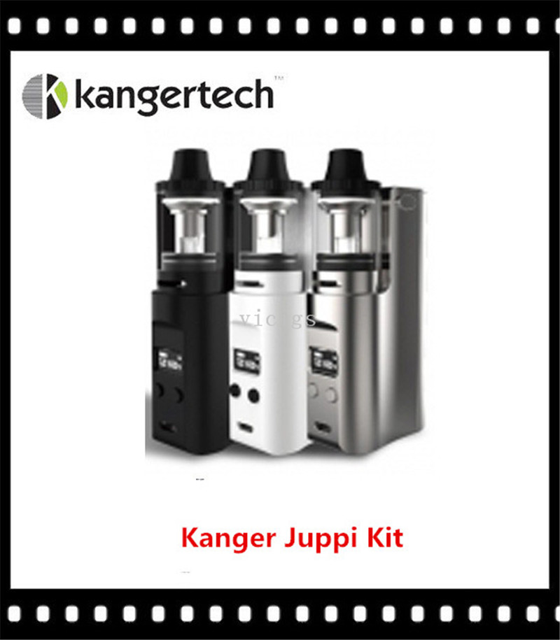100% Original Kanger Juppi 75W TC Starter Kit Support Ni/Ti/SS316 Wires Powered by Single 18650 Cell lina лина lina солнце черный