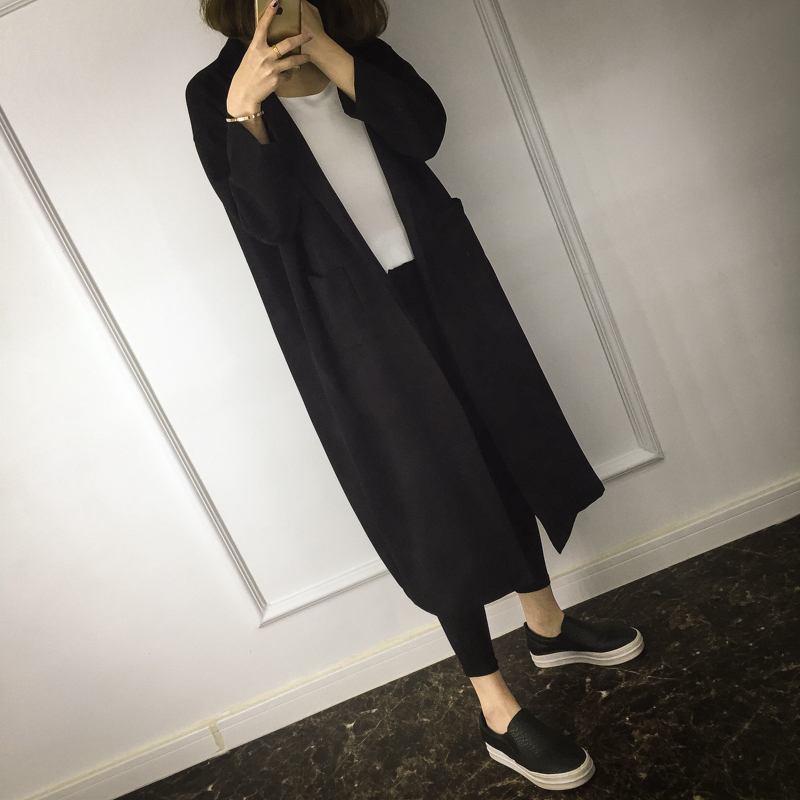 Women Blazers And Jackets Women's Outwear Below Knee Length Spring Autumn For Cocoon Bf Loose Oversize Thin Casual Fashion Coat