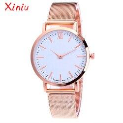Relógios Das Mulheres Partes Superiores Das Senhoras de Luxo Banda de Aço Inoxidável Relógio de Ouro Rosa de Prata Minimalismo zegarek damski relogio feminino 2018 Novo