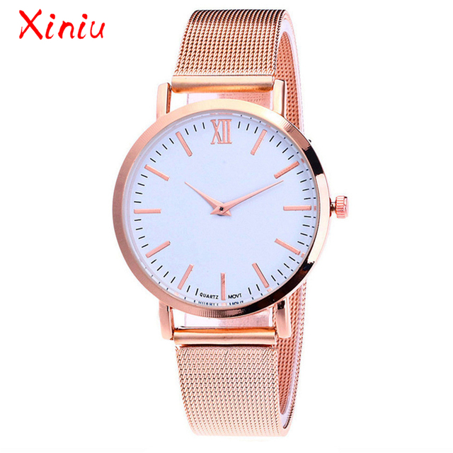 Watches Women Tops Ladies Luxury Stainless Steel Band Watch Rose Gold Silver Minimalism zegarek damski relogio feminino 2018 New