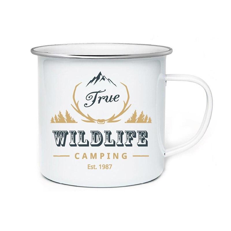 diy 350ml enamel mugs coffee mug tea cup letter novelty cups and mugs brief tumbler enamel cups creative gifts for friend