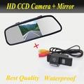 2 1 HD 5 pulgadas 800 * 480 coches espejo Monitor + HD ccd aparcamiento cámara para Nissan Qashqai X-Trail X Trail Geniss Dualis Sunny Juke