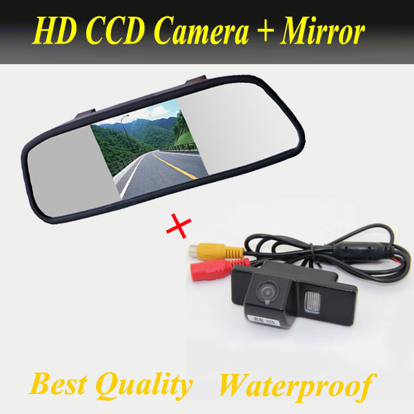 2 in 1 HD 5 inch 800*480 Car Mirror Monitor + HD ccd parking camera for Nissan Qashqai X-Trail X Trail Geniss Dualis Sunny Juke