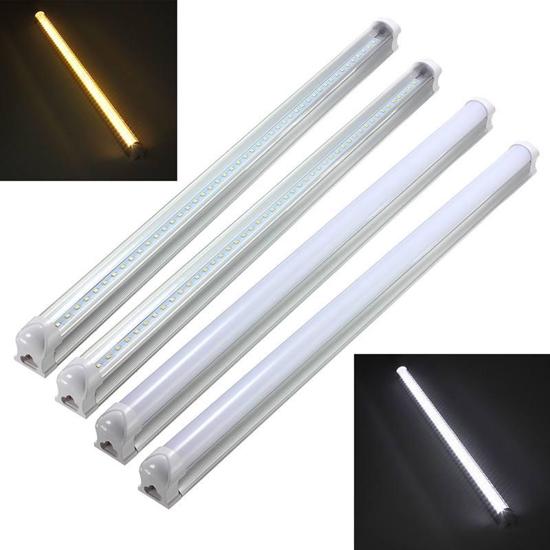 Smuxi LED Bulbs 60cm T8 9W 2835 48smd LED Fluorescent Tube Light Bar Lamp Fixture Bulb 810Lm Pure Warm White AC175-265V