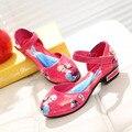 Meninas De Salto Alto Sandálias 2016 Crianças sapatos meninas sapatos azul barco crianças Anna Elsa princesa sapatos meninas crianças sapatilhas