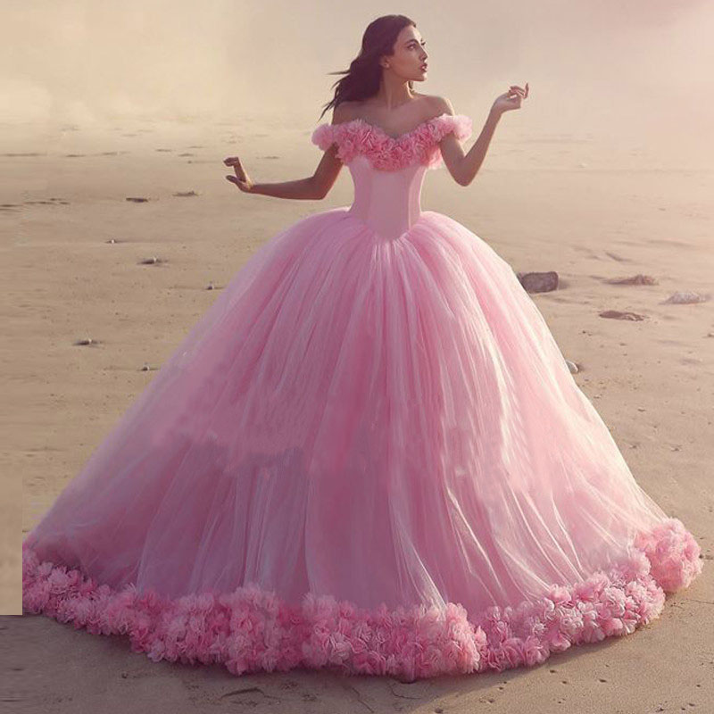 Compare Prices on Pink Ball Gown Wedding Dress- Online Shopping ...