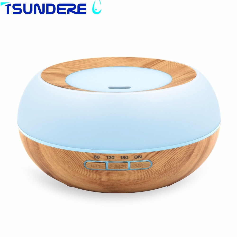 Ultrasonic Air Humidifier Essential Oil Aroma Diffuser 300ML Mist Maker Diffuser LED Wood Aromatherapy For Home Living Room 300ml colors changable led light essential oil aroma diffuser ultrasonic air humidifier mist maker for home& bedroom