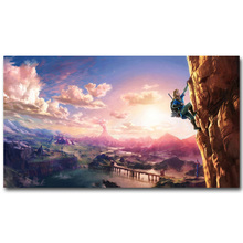 The Legend of Zelda Breath of The Wild Art Silk Fabric Poster 13×24 24x43inch New Game Pictures for Living Room Wall Decor 014