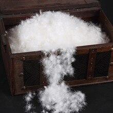 Дешевый пух/вымытый белый гусиный пух стандарт США 800 наполнитель мощности дешевый гусиный пух для продажи