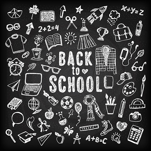high school black chalkboard theme backgrounds vinyl cloth computer printed wall backdrop
