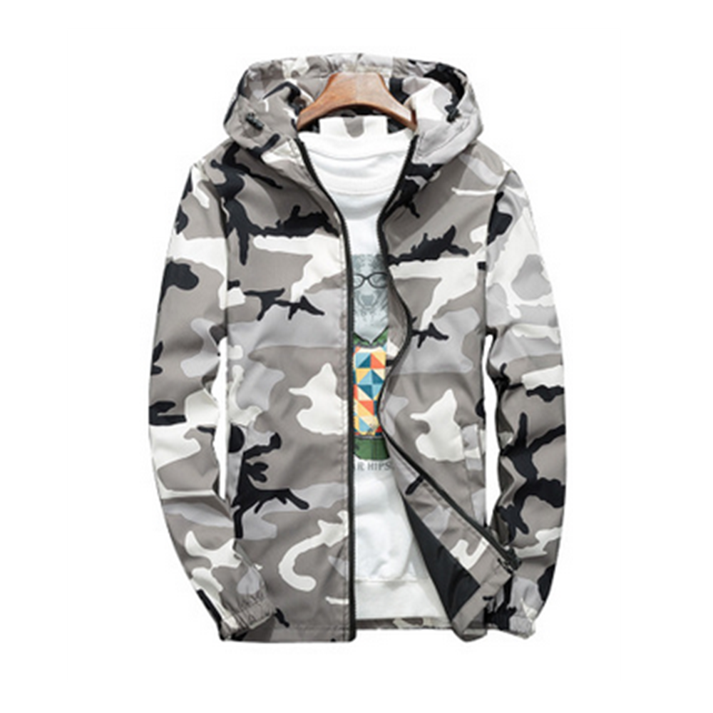 NEW Outdoor Sport Jackets Large Size 4xl Waterproof Camouflage Clothing Coats Zipper Jackets Summer 2019(China)