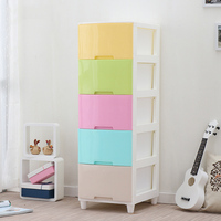 Plastic chest of drawers storage organizer for kids toys large space organizador for clothes drawer divider for rangement