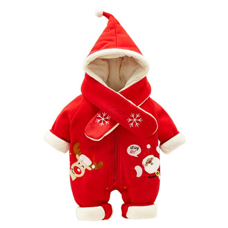 656256af290 Thick Warm Infant Baby Rompers Winter Clothes Newborn Baby Boy Girl Knitted  Sweater Jumpsuit Hooded Kid Toddler Outerwear