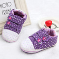 New fashion polka dot baby shoes girls shoes soft sole toddler shoes cute prewalkers lovely first walkers shoes girls sneakers