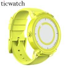 Дешевые Оригинальный Ticwatch E Smartwatch Android Wear 2,0 Bluetooth 4,1 MTK2601 двухъядерный для iOS/Android IP67 пыли воды нескользящие