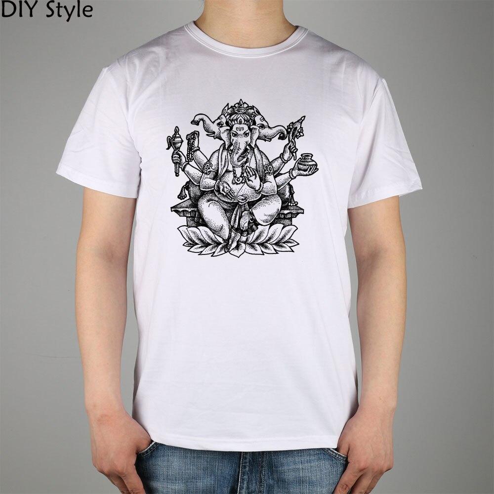 Bébé ganesha Colorier Pages T-shirt Top Lycra Coton Hommes t-shirt Nouveau  Style DIY 09a0253943c