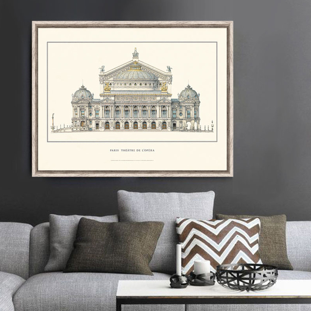 Italy Rome ancient architectural drawings painting posters and ...