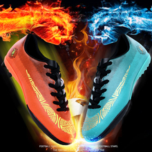 Mens Soccer Shoes Indoor Cleats Adults Breathable TF Football Training Kids Sports Sneakers Soft Turf Futsal Size 31-46