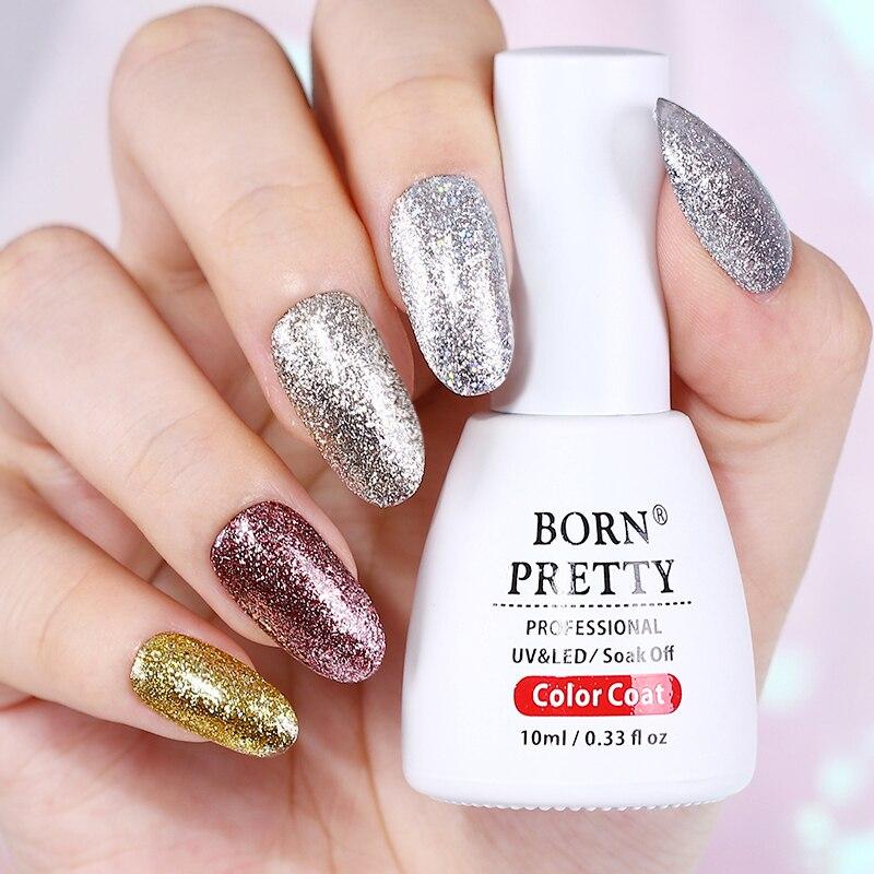 BORN PRETTY Holographic Glitter Nail Gel Polish 10ml Bling