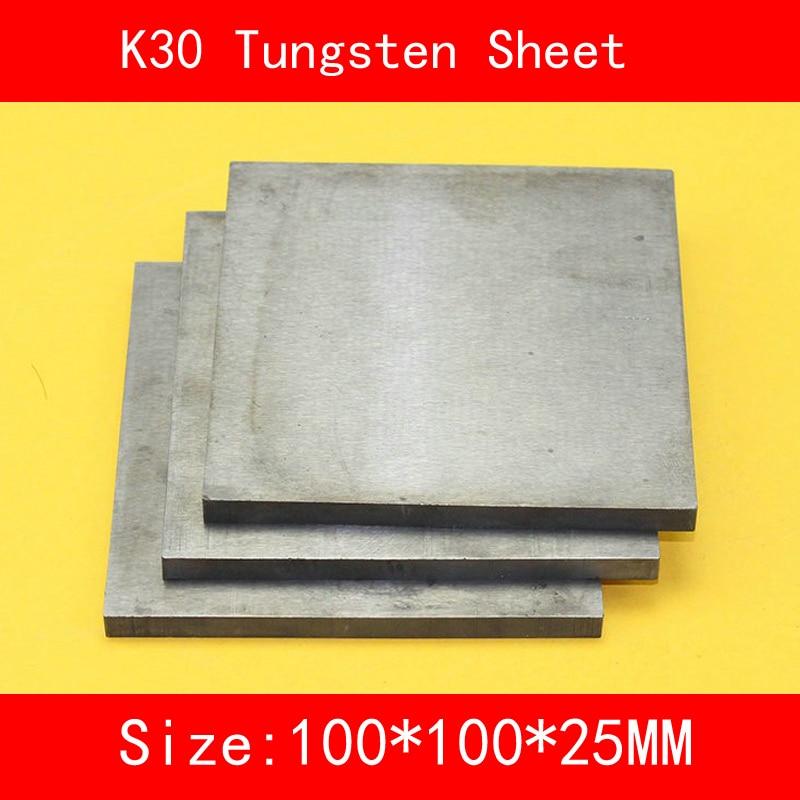 25*100*100mm Tungsten Sheet Grade K30 YG8 44A K1 VC1 H10F HX G3 THR W Tungsten Plate ISO Certificate25*100*100mm Tungsten Sheet Grade K30 YG8 44A K1 VC1 H10F HX G3 THR W Tungsten Plate ISO Certificate