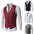 Hot! New! 2015 Male Casual Vest Fashion Personality  Slim All-match Men's Vest
