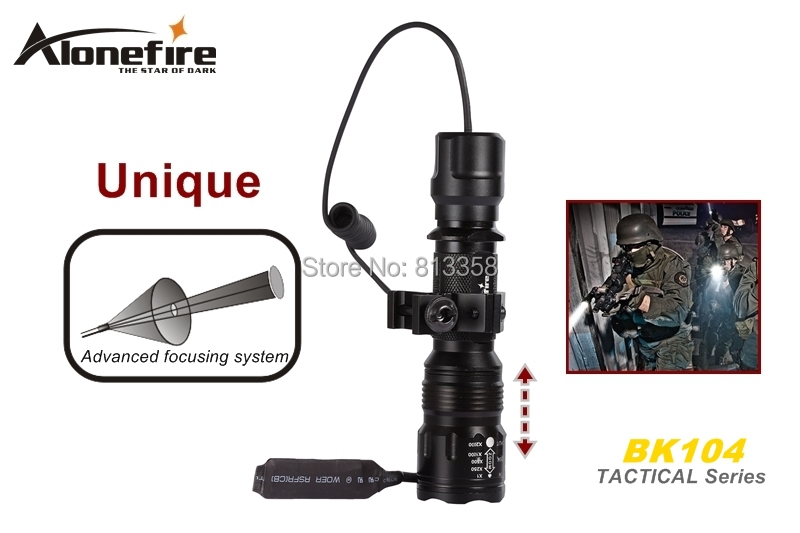 AloneFire BK104 Tactical Series CREE XM-L T6 LED 5 mode Professional Zoom tactical flashlight torch light lotus attach head cree xm l t6 5modes led tactical flashlight mechanical zoom torch waterproof hunting flash light lantern