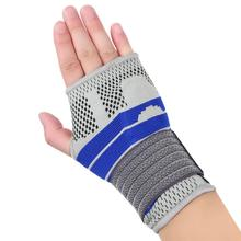 Professional Wrist Brace Sleeve Compression With Silicone Pad Sports Safety Tennis Wrist Bandage Sleeve Brace Support