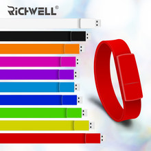 10 Color bracelet Pen drive 4GB 8GB 16GB 32GB usb flash drive 64GB usb 2.0 wristband model pendrive U disk memory stick(China)