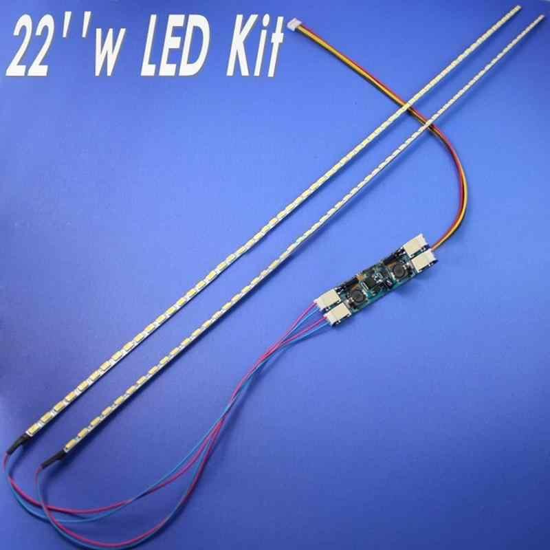 EastVita, Kit de actualización de lámparas de fondo LED de 22 pulgadas de ancho, luz LED ajustable para Monitor LCD, 2 tiras LED r60