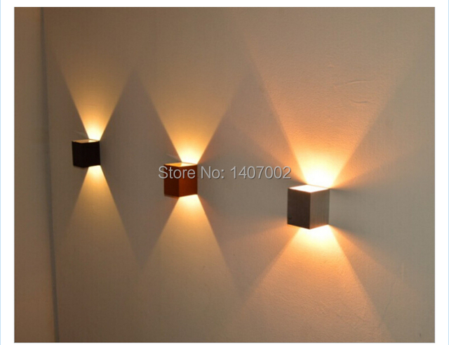 Bathroom lighting fixture modern wall light 3w 8pc square bedside ...