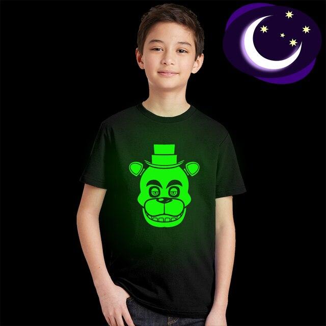 2018 Summer Children's Clothes Cartoon T-Shirts Five Nights At Freddy's Boys Girls Clothing Kids T Shirt 5 Freddys Tops 3-12Y
