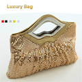 Luxury Crystals 2017 Women Evening Bags Designer Lips Female Clutch Purses and Handbags for Wedding sac a main femme de marque
