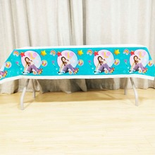 108*180cm Luna birthday party tablecloth supplies cartoon girls disposable decoration tablecover set
