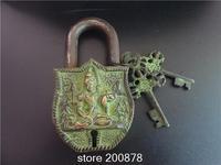 HDC0814 Tibet Nepal Antiqued Solid Brass Bronze Tara Locks Tibetan Metal Handicrafts Retail Wholesale Free Shipping