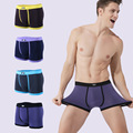 Man Underpants Male Boxer Shorts New 2016 Solid Fashion Sexy Elastic Patchwork Modal Breathable Bulge Pouch Gay XL/XXL/XXXL