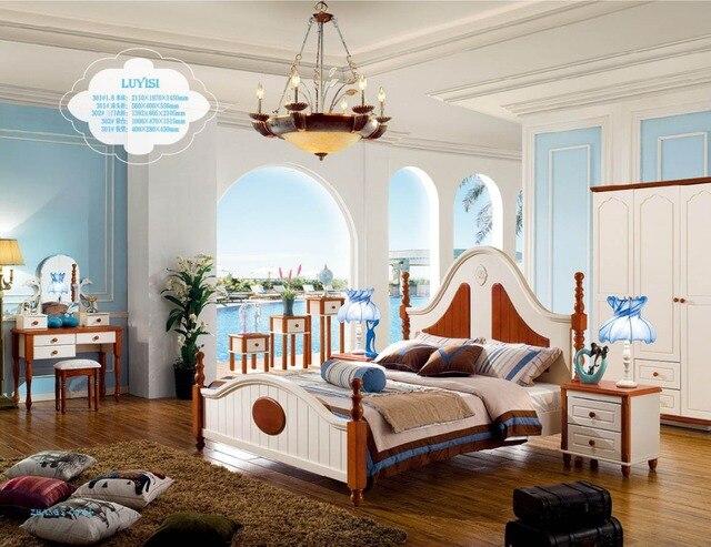 Muebles juego de dormitorio Cama suave Muebles Para Casa Venta ...