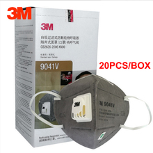 3M 9041V 9042V Activated Carbon Mask Anti formaldehyde decoration odor Mask Anti-dust smog Pregnant Safety breathing masks цена