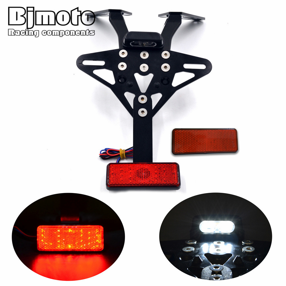 ФОТО Motorbike Adjustable Angle Aluminum License Number Plate Frame Holder Tail light Bracket For Yamaha T MAX T-max 530 2013 - 2015