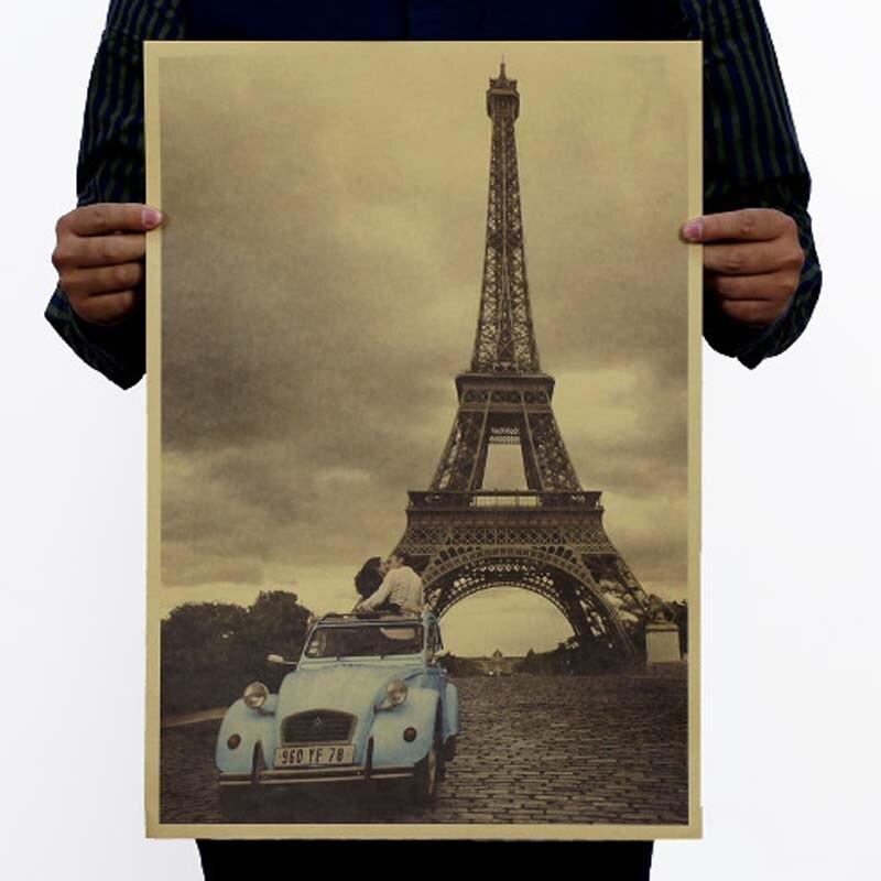 Винтажный постер Фильм Ретро аниме автомобиль плакаты и принты кофе/кухня/гостиная декоративная живопись крафт-бумага наклейки на стену - Цвет: 070