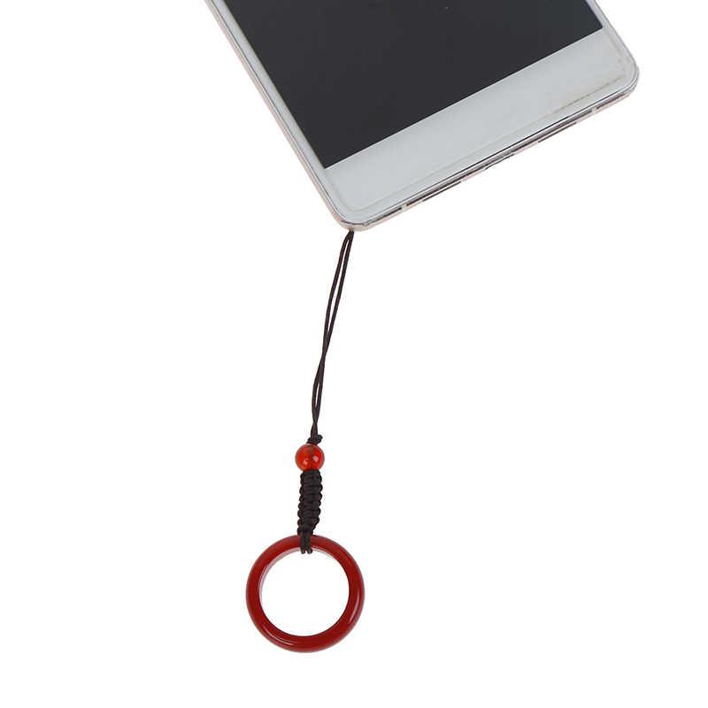 新しい人工瑪瑙指リング手のロープペンダントキーホルダー携帯電話ストラップ抗ドロップ秋プロテクター