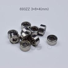 693ZZ 3*8*4(mm) 10pieces bearing  Metal sealed free shipping ABEC-5 chrome steel miniature bearings hardware Transmission Parts
