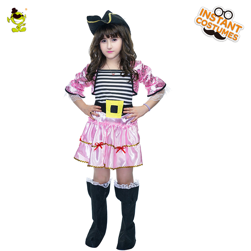 Halloween Girl's Pink Pirate Costume Halloween Beauty&Lovely