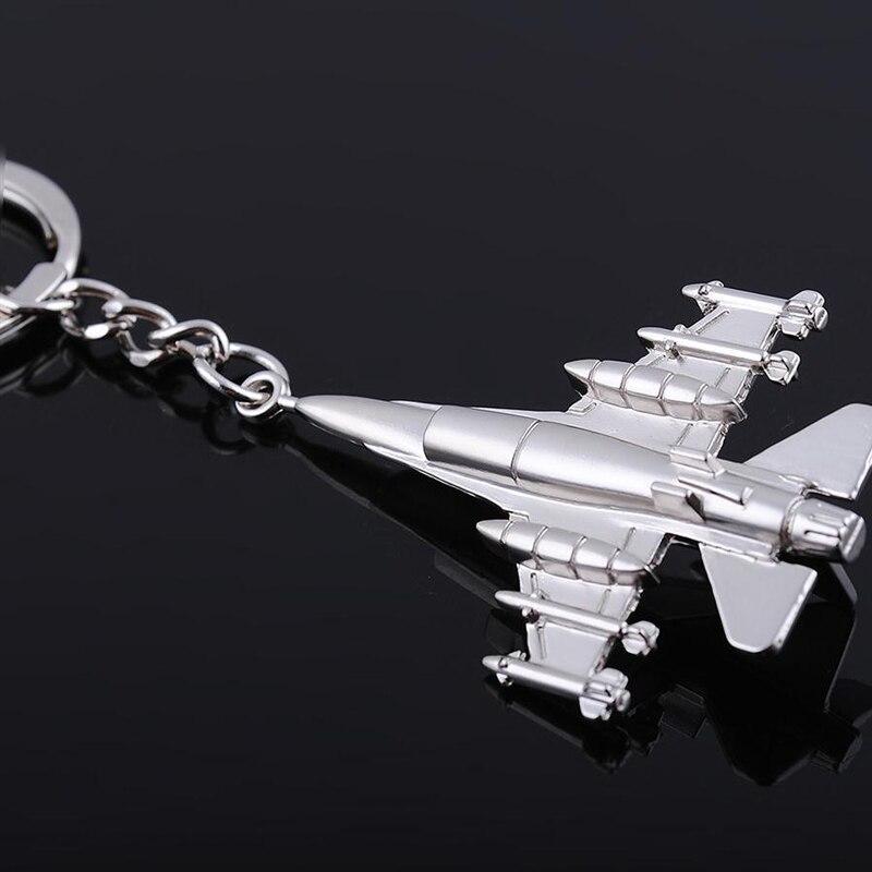 (12 kusů / hodně) Vysoce kvalitní jemná kovová stíhačka Letadlo Keychain Klíčový držák Promoce Křest a křest Suvenýry KC024