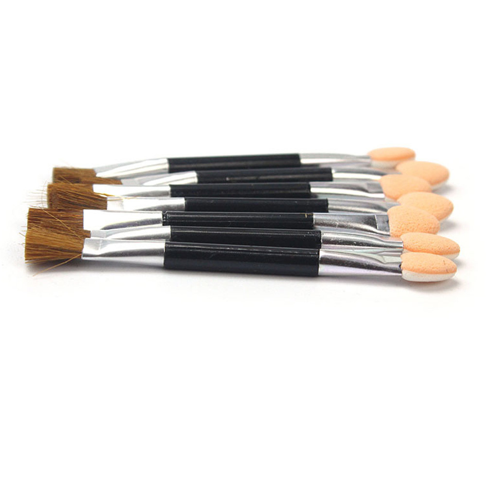 MAMIXIXI Makeup Double-end Eye Shadow Brush 10 Pcs Natural Sponge Applicator Tool Beauty & Health Products Drop Shipping 30S410