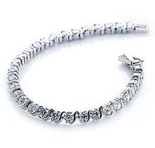 цена на Free shipping MSF brand 2013 new arrival super shiny zircon 925 sterling silver ladies`bracelets jewelry wholesale
