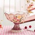 Fangya Vitoria plato de fruta de cerámica de protección del medio ambiente de jardín Europea sala de estar mesa de café seco compota de frutas