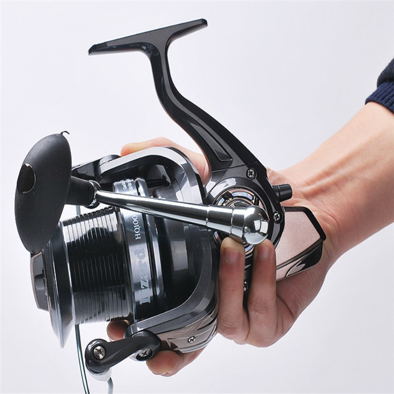 HQ3000-10000 series Fishing Reel 13 + 1BB 5.2: 1 Spinning Reel Distant Wheel Spinning Raft Wheel Fishing Tackle Wheel Pesca high quality spinning fishing reel 14 bearings distant wheel high gear ratio superbig line capacity trolling wheel fishing tool