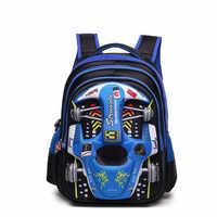 51e0b0b4052f 2019 непромокаемые детские 3D Автомобильные школьные сумки для мальчиков  babay рюкзаки детские школьные сумки рюкзак для