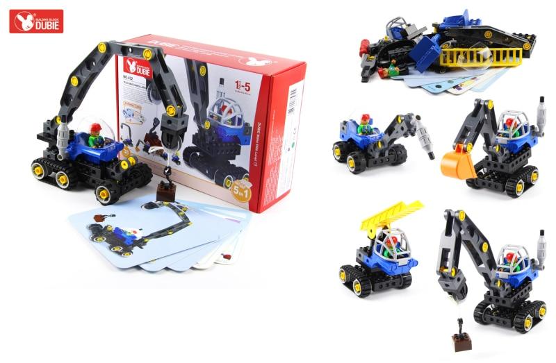 Blok Bangunan Kreatif Kereta Set 5 dalam 1 Trak Kejuruteraan - Mainan pembinaan - Foto 6
